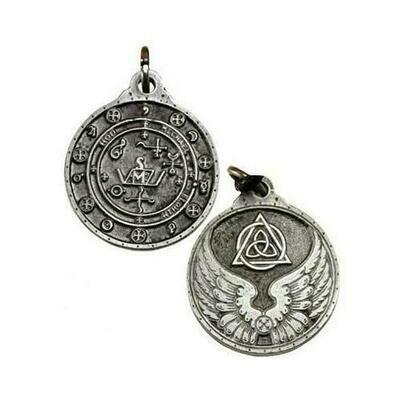 Saint Michael talisman silver color