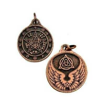 Tetagrammation talisman copper color