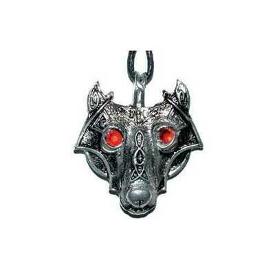 Viking Wolf Head amulet