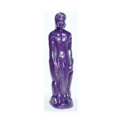 Purple Male candle