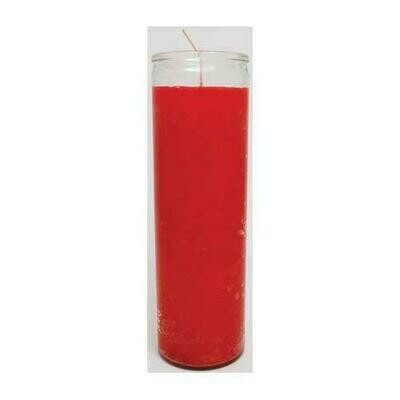 Red 7-day jar candle