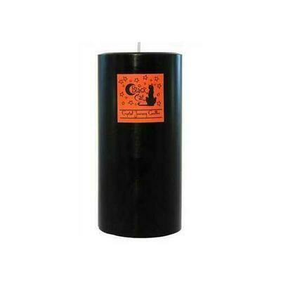 Black Cat pillar candle 3