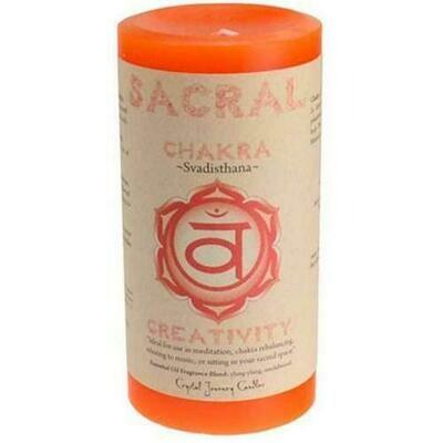 Sacral Chakra pillar candle 3