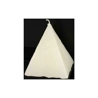 White Strawberry pyramid candle