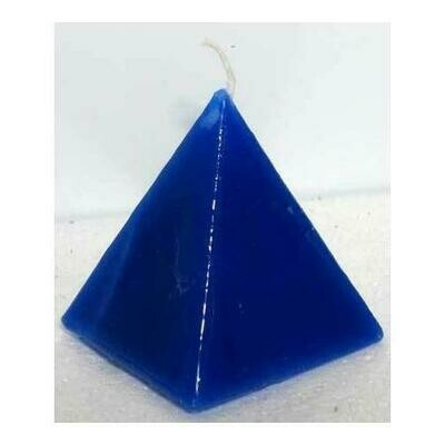 Blue pyramid Jasmine candle