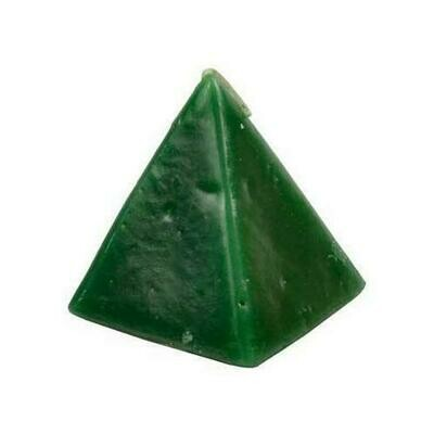 Green Cherry pyramid candle 2 1/2