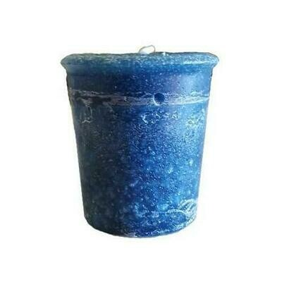 Gratitude Herbal votive - Midnight Blue