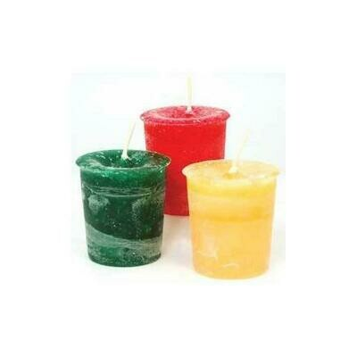 Peace Herbal votive - dark green