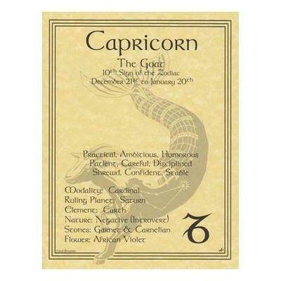 Capricorn zodiac poster