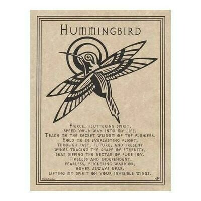 Hummingbird Prayer poster