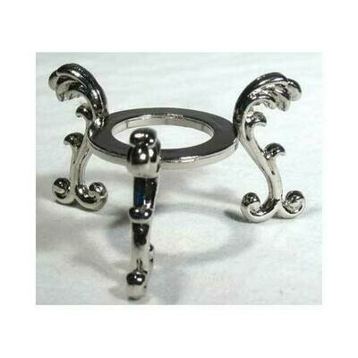 Silver Plated Flower gazing ball stand