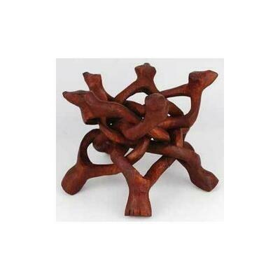 Wood Cobra crystal ball stand 6