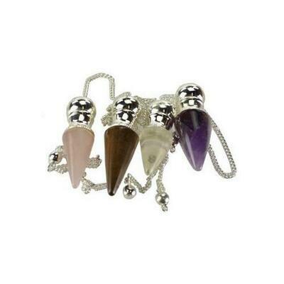 various stones Chambered pendulum