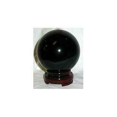 50mm Black gazing ball