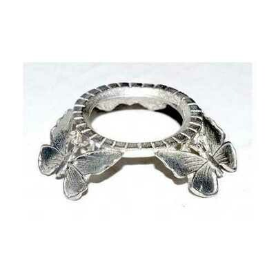 Silver Plated Butterfly gazing ball stand
