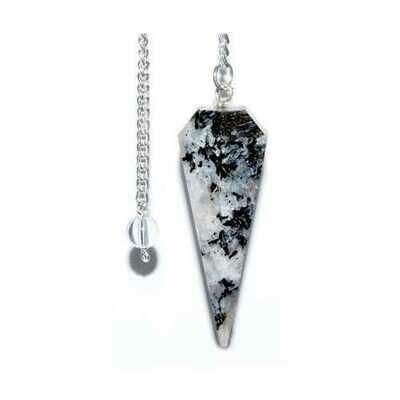 6-sided Rainbow Moonstone pendulum