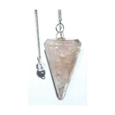 6-sided Rose Orgone pendulum