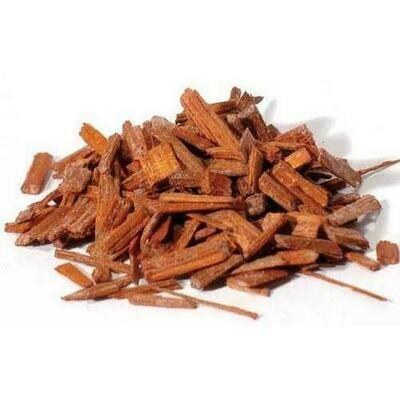 Sandalwood chips red 1oz (Pterocarpus santalinus)