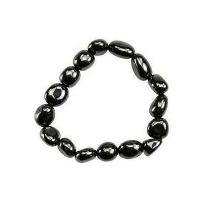 Hematite (man-made) gemstone bracelet