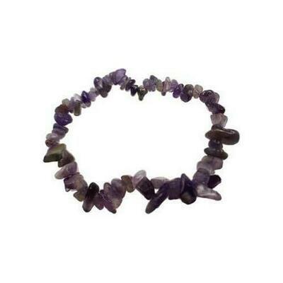 Amethyst chip bracelet