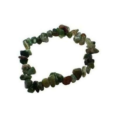 Bloodstone chip bracelet