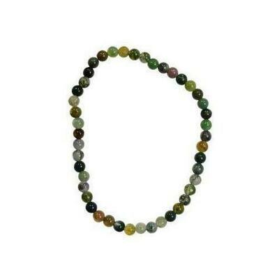 4mm Indian Agate stretch bracelet