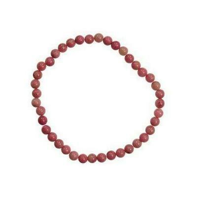 4mm Rhodonite stretch bracelet