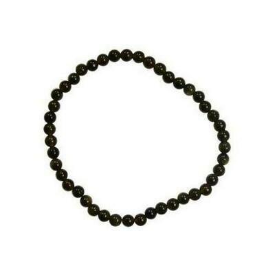 4mm Black Obsidian stretch bracelet