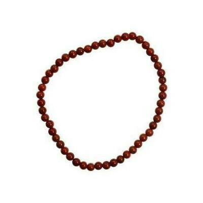 4mm Red Jasper stretch bracelet