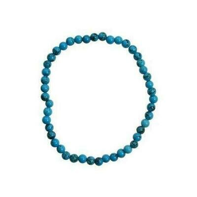 4mm Turquoise (synthetic) stretch bracelet