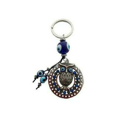 Owl Evil Eye keychain