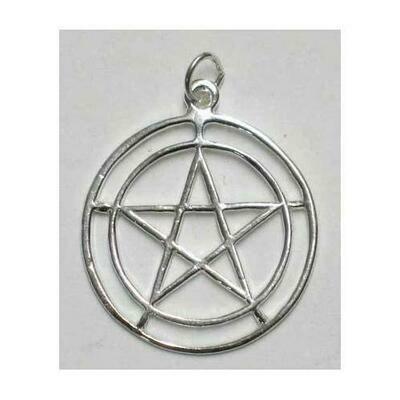 2-Circle Pentagram sterling