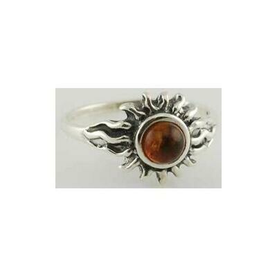 Amber Sun ring Size 5