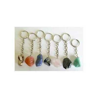 Various Tumbled Stones keychain