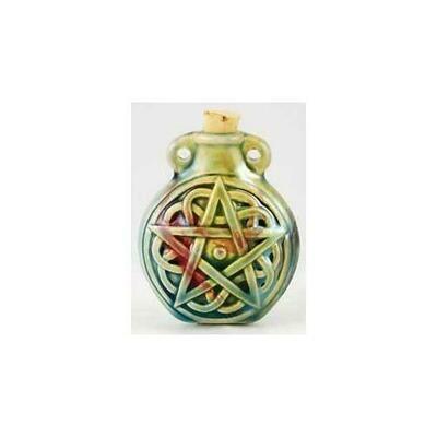 Pentagram Raku Oil Bottle
