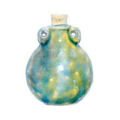 Vase Raku Oil Bottle