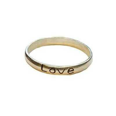 Love Band ring size 7 sterling