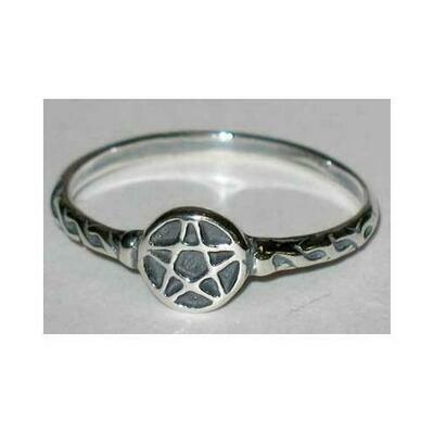 Pentagram ring size 5 sterling