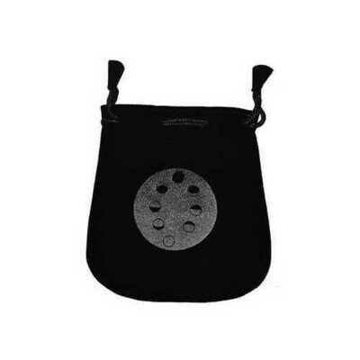 Moon Phases Velveteen Black Bag  5