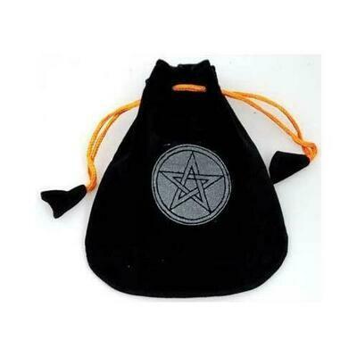 Pentagram Velveteen Black Bag  5