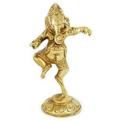 Brass Ganesh Shrine 3 1/2