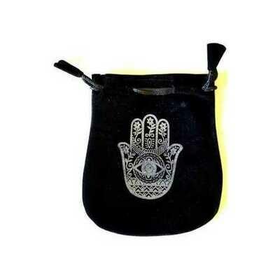 Hand of Compassion Velveteen Black Bag  5