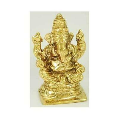 Ganesh Sitting Brass 3