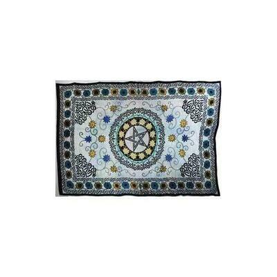 Flower Pentagram Tapestry 72