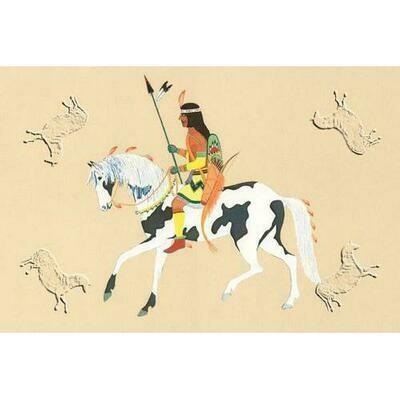 Warrior On Pinto Pony