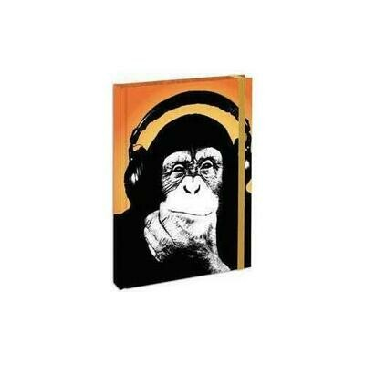 Headphone Monkey - Hardbound Journal