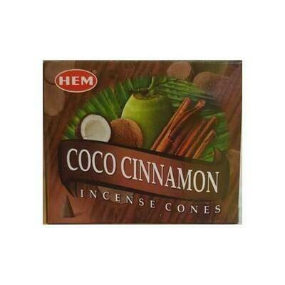 Coconut Cinnamon HEM cone 10 cones