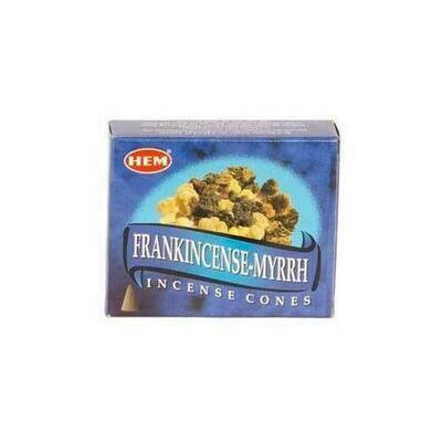 Frankincense & Myrrh HEM cone 10 cones