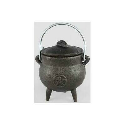 Pentagram cast iron Cauldron 3