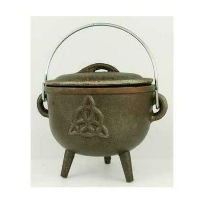 Triquetra cast iron cauldron 4 1/2
